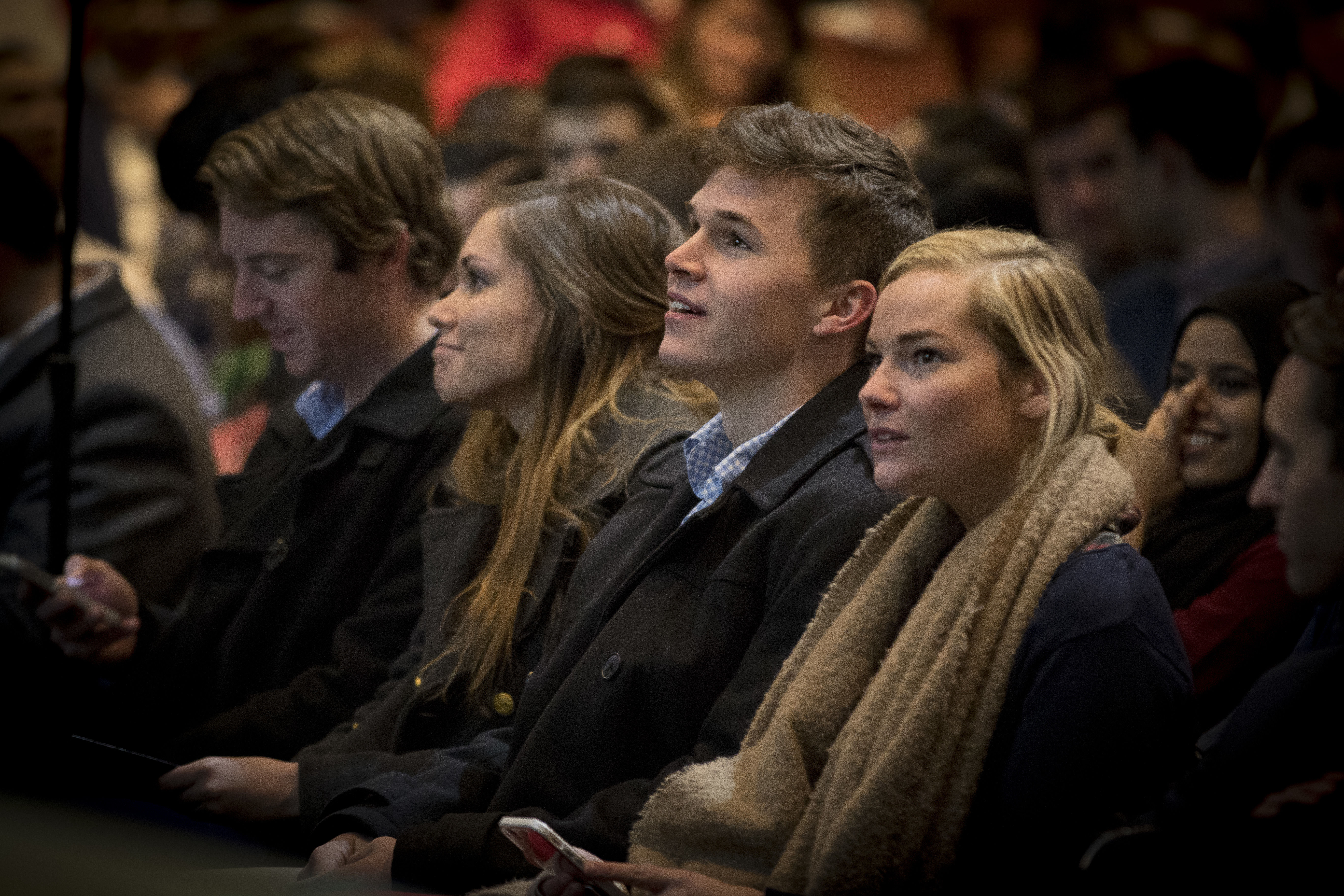 Students in the audience during a Research Day event.