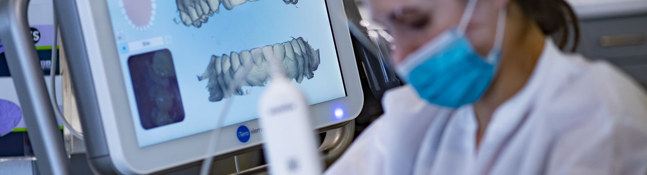 A student-dentist planning an orthodontic procedure.
