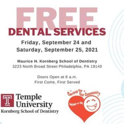 MOM-N-PA Mission September 24-25 at temple University Kornberg School of Dentsitry