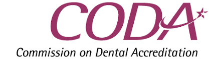 Logo for the Commission on Dental Accreditation.